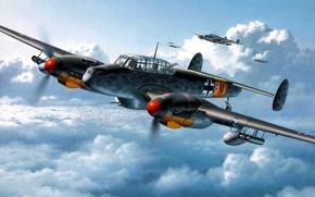 Обои Bf-110, Me-110, Messerschmit