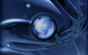 Обои земля, планета, траектория