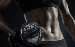 Картинка fitness, abs, dumbbell