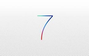 Картинка белый, фон, apple, операционная система, версия, 7 iOS