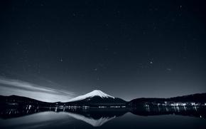 Обои горы, озеро, отражение, природа