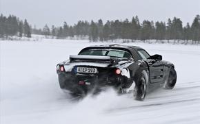 Обои движение, занос, снег