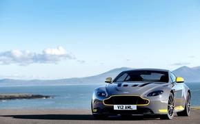 Картинка car, небо, Aston Martin, астон мартин, sport, суперкар, автомобиль, sky, V12, Vantage S, Sport-Plus Pack