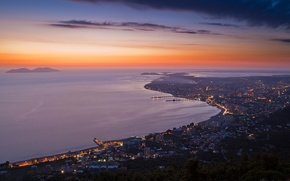 Картинка вечер, албания, Vlora