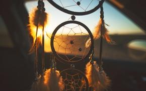 Картинка закат, перья, снов, ловец