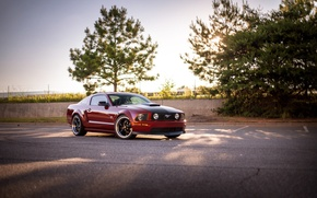 Картинка Ford, mustang, red, gt, 2005-09