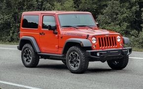 Обои джип, 2015, Wrangler, Jeep, вранглер, лес