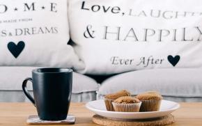 Картинка кофе, еда, тарелка, кексы
