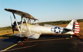 Картинка самолет, американский, ближний, Vought O3U-6, сухопутный и морской разведчик, «Corsair», Ваут O3U-6, «Корсэр»