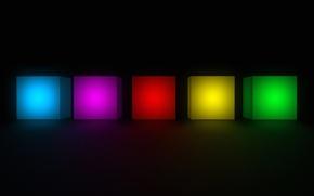 Картинка фон, цвет, кубик, куб, геометрия, грань