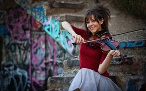 Обои violin, девушка, Линдси Стирлинг, скрипка, Lindsey Stirling, скрипачка