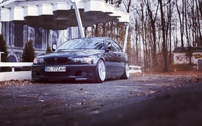 Картинка BMW, autumn, stance, e46, 3series, 325ci