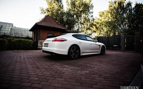Обои машина, авто, Porsche, Порш, Panamera, диски, auto, Панамера