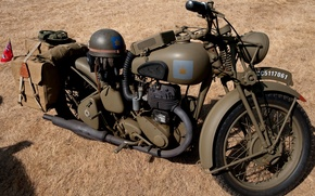 Картинка раскраска, Вторая мировая война, BSA M20, британский мотоцикл
