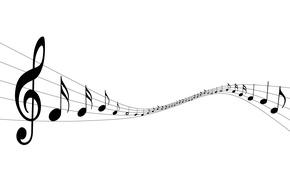 Картинка ноты, музыка, ключ, звуки