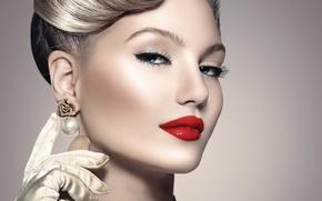 Картинка взгляд, девушка, модель, макияж, woman, retro, Анна Субботина