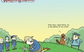 Обои карикатура, бобер, скауты, Wulffmorgenthaler, юмор