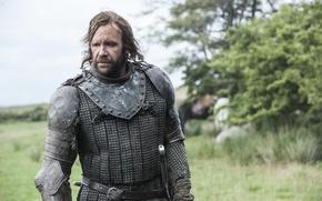 Картинка природа, доспехи, воин, пес, Game of Thrones, Игра престолов, The Hound, Сандор Клиган