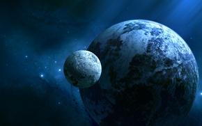Картинка планеты, космос, звезды