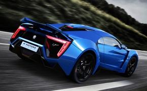 Картинка car, суперкар, supercar, blue, race, Lykan Hypersport, W Motors, UHD