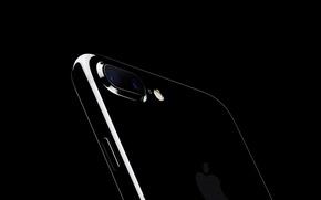 Картинка Apple, logo, black, camera, new Design, new iPhone, iPhone 7