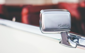 Обои зеркало, автомобиль, cadillac, машина