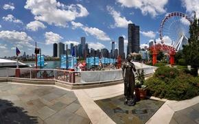 Картинка city, город, Чикаго, USA, Chicago, Illinois, Navy Pier