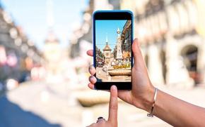 Обои Берн, my planet, cyberspace, travel, smartphone, wallpaper., боке, размытость, фотосъемка, старый город, вид центр, technology, ...