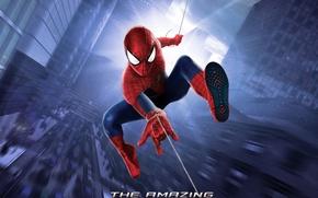 Картинка city, web, новый человек паук, высокое напряжение, the amazing spider man 2