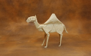 Обои бумага, оригами, Dromedary Camel