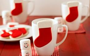 Картинка еда, Новый Год, печенье, Рождество, чашка, Christmas, food, выпечка, cup, праздники, New Year, cookies, Holidays, …