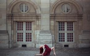 Обои Annabelle Tricoire, Париж, танец, девушка, город