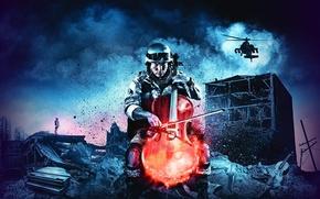 Картинка ночь, Постер, Battlefield