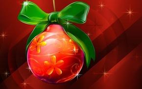 Картинка Christmas, Festive Christmas, Ball, Shinging