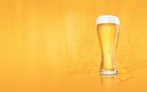 Обои пена, пиво, Стакан, budweiser