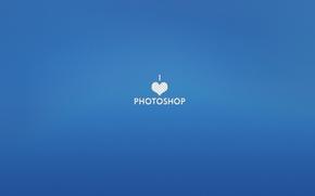 Картинка Love, текст, Photoshop, hearth, Фотошоп, слова, обои