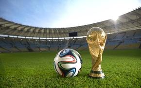 Картинка Мяч, Спорт, Футбол, Бразилия, Ball, Football, Стадион, Stadium, Brazil, Sport, Кубок, Маракана, Brazuca, Марио Филью, …