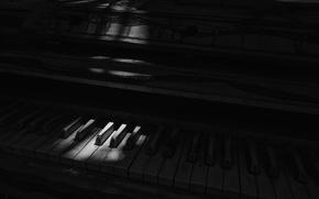 Картинка свет, тень, пианино