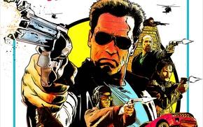Обои Arnold Schwarzenegger, Родриго Санторо, Rodrigo Santoro, Frank Martinez, Арнольд Шварценеггер, Возвращение героя, The Last Stand, ...