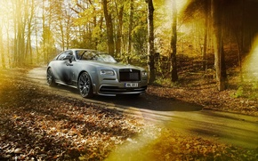 Картинка car, лес, Rolls Royce, tuning, роллс ройс, Wraith, Spofec