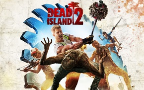Картинка sword, zombie, game, machete, blade, Dead Island, arrow, crossbow, sledgehammer, Dead Island 2