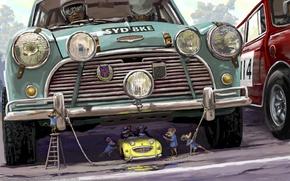 Картинка великая, старт, cooper, мыши, гонка