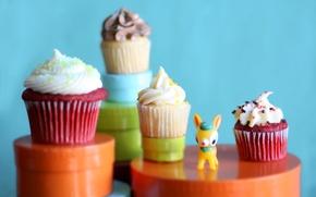 Обои вкусно, cupcake, крем, кекс, десерт, 3567х2378