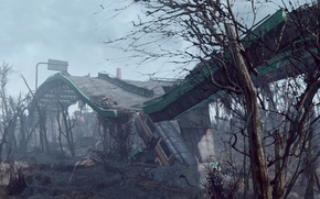 Обои state of decay, fallout-4, мост
