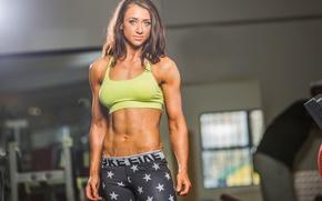Обои abs, fitness, sportswear, pose, bodybuilder