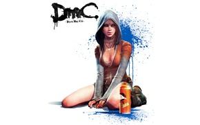 Картинка девушка, краска, капюшон, татуировка, баллончик, DmC, Devil May Cry 5, Kat, Кэт