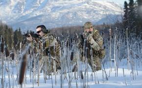Картинка зима, оружие, солдаты