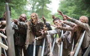 Картинка dirt, zombies, makeup, horde, The walking dead, grime, humanoid creatures