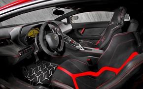 Картинка суперкар, салон, Aventador