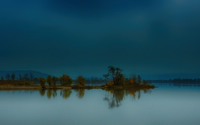 Картинка осень, деревья, горы, озеро, Германия, Бавария